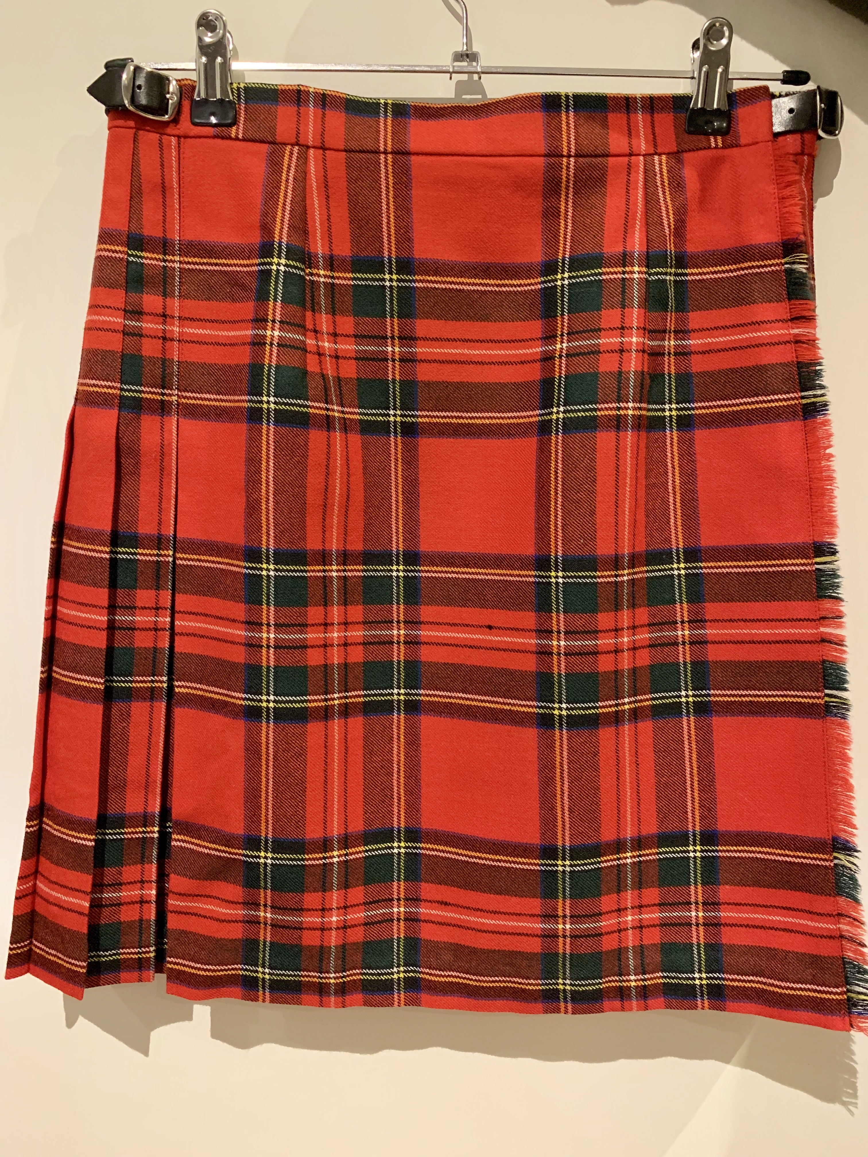 Whynotshopper, falda, escocesa, dunvegan, tartan, rojo, clan,stewart